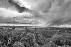 Rainshower crossing the durance